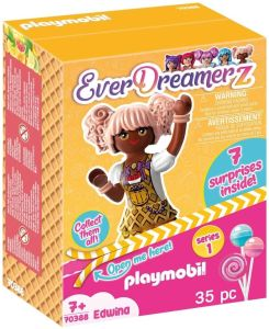 PLAYMOBIL-EverDreamerz 70388 Edwina mit Herzwaffel-Anhänger, Ab 7 Jahren