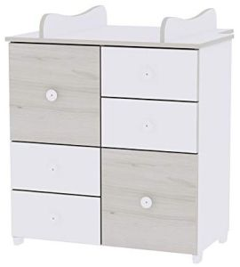 Lorelli 'Cupboard' Kommode 83 x 71 x 96 cm hellbraun/weiß