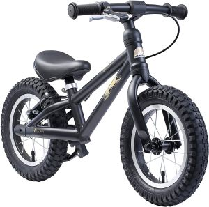 BIKESTAR 'Kinderlaufrad 12 Zoll Mountain', für Kinder ab 93 cm Körpergröße, bis 30 kg belastbar, inkl. Bremse, schwarz
