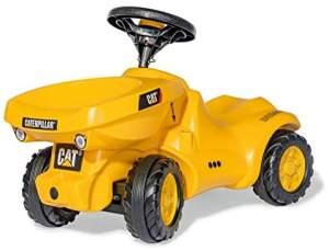 Rolly Toys 132249 'rollyMinitrac Dumper CAT' Rutschfahrzeug, ab 1,5 Jahren, gelb