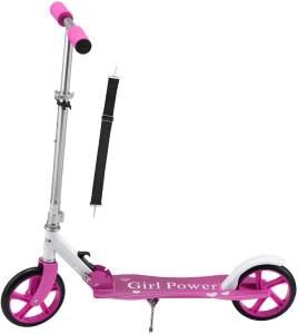 ArtSport 24620 'Cityroller Girl Power' Scooter, ab 3 Jahren, 3-fach höhenverstellbar bis 106 cm, klappbar, max. belastbar bis 100 kg, pink