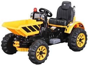 Kinder Elektro Auto RADLADER 328 Bagger Elektrofahrzeug Kinderfahrzeug Spielzeug (Gelb)