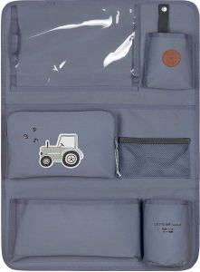 LÄSSIG Autoorganizer Autorücksitzorganizer Rücksitztasche für Auto zum Hängen zusammenklappbar 55 cm/Car Wrap-to-Go Adventure Tractor