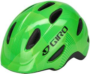 Giro Unisex Jugend Scamp MIPS Fahrradhelm Youth, Green-Lime Lines, S