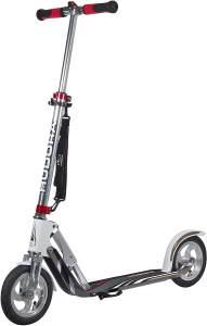 HUDORA 14005 'Big Wheel Air 205' Scooter, höhenverstellbar bis 105 cm, klappbar, max. belastbar bis 120 kg, Silber/weiß