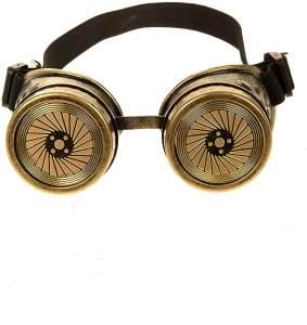 Brille Steampunk gold