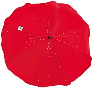 CAM Schirmchen Cristallino mit Universal-Befestigungssystem : Rot