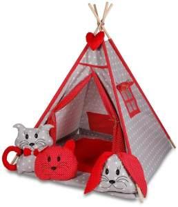 Kinderspielzelt Tipi Tepee Spielzelt Zelt Megaset 4 Modelle Mädchen Junge by ChillyKids Strawberry 01