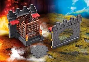 Playmobil 9841 - Mauererweiterung mit Gefängnis und Mauerdurchbruch für die 70221 Festung der Burnham Raiders (Folienverpackung)