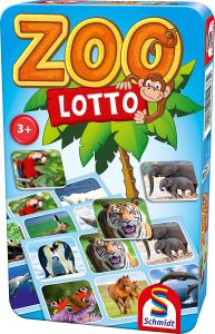 Schmidt Spiele 51433 Zoo Lotto, Bring Mich mit Spiel in der Metalldose, bunt