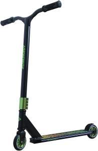 Schildkröt 510432 'Stunt Scooter Kickless' Scooter, ab 8 Jahren, Lenkerhöhe 84 cm, 360 Grad Drehung, max. belastbar bis 100 kg, schwarz/grün