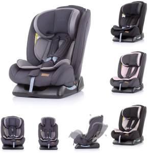 Chipolino Kindersitz Corso Gruppe 0+/1/2/3 (0 - 36 kg), 5-Punkt-Gurt, 3D-Pad grau