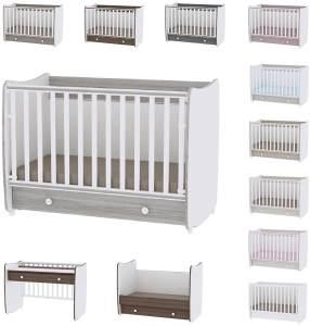 Lorelli 'Dream' Babybett 60 x 120 cm umbaubar, mit Schaukelfunktion grau