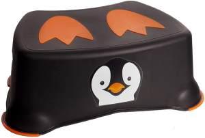 Jippie's toilettenhocker Pinguin 26,2 x 14,6 cm schwarz/orange
