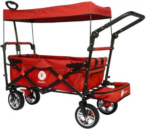 Miweba faltbarer Bollerwagen Rot