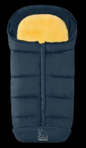 Heitmann Komfort 2-in-1-Fußsack marineblau, mit Lammfelleinlage, universell einsetzbar