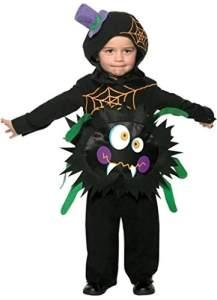Halloween! Smiffys Kostüm Verrückte Spinne, mit Überzieher und Kapuze