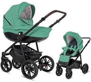 Bebebi Minigo Flow | 2 in 1 Kombi Kinderwagen Luftreifen | Farbe: Turquoise