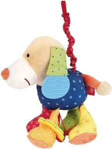 sigikid, Jungen und Mädchen, Aktiv-Anhänger Entdeckerhund mit Vibrationsrassel, Bunt, 40099