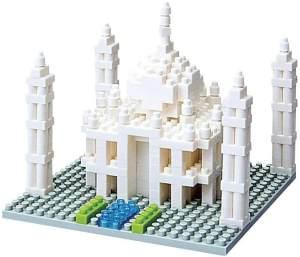 nanoblock - Taj Mahal, Minibaustein 3D-Puzzle, Sights to See Serie, 420 Teile, Schwierigkeitsstufe 2, mittel