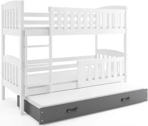 Interbeds 'QUBA' Etagenbett weiß/grau 90x200cm