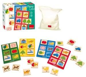 Jumbo Spiele D53413 MemoLotto, 28teilig Holzspielzeug für Kleinkinder, Ab 3 Jahren