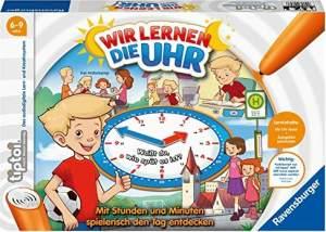 Ravensburger tiptoi 00847 - Wir lernen die Uhr / Spiel von Ravensburger ab 6 Jahren / Spielerisch die Uhr lernen mit dem interaktiven Brettspiel und einstellbarer Uhr