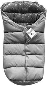 Cangaroo Fußsack Cuddle, für Kinderwagen Thermofleece wasserdicht Reißverschluss, Farben:grau, universell einsetzbar