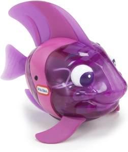 little tikes 173851GR Sparkle Bay Funkelfisch Kaiserfisch, Wasserspielzeug mit Leucht- und Schwimmfunktion, lila