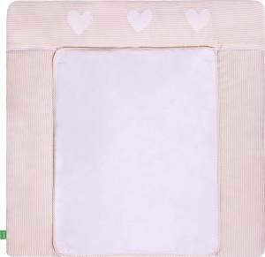 LULANDO Wickelauflage mit 2 abnehmbaren und wasserundurchlässigen Bezügen. 75 x 80 cm oder 75 x 85 cm. Oberstoff 100% Baumwolle. Passend u.a. für die Kommode IKEA Malm oder Hemnes.