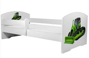 Angelbeds 'Luk2 Luk' Kinderbett 80 x 160 cm, Motiv 24, mit Lattenrost, Matratze und mit Bettschublade
