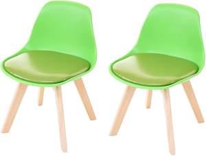 Mendler 2-er Set Kinderstuhl Kunstleder, grün