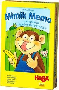HABA 304242 - Mimik Memo – Lernspiele für Mund- und Lippenmotorik, spielerische Sprachförderung für Kinder von 3-8 Jahren