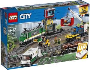 LEGO City 60198 Güterzug mit Schienensegmenten, Kinderspielzeug