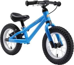 BIKESTAR Mountain Kinderlaufrad Lauflernrad Kinderrad für Jungen und Mädchen ab 3 - 4 Jahre | 12 Zoll Kinder Laufrad Mountainbike | Blau | Risikofrei Testen