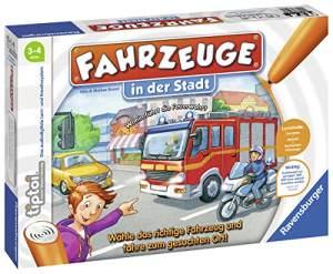 """Ravensburger tiptoi 00848 - """"Fahrzeuge in der Stadt"""" / Spiel von Ravensburger ab 3 Jahren / Wähle das richtige Fahrzeug und fahre zum gesuchten Ort!"""