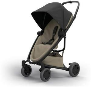 Quinny Zapp Flex Plus Buggy, stylischer Kinderwagen mit viel Komfort und Flexibilität, leicht und extrem kompakt zusammenfaltbar, nutzbar ab der Geburt (z.B. mit Lux Babywanne), black on sand