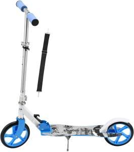 ArtSport 24622 'Cityroller Skaterboy' Scooter, ab 3 Jahren, 3-fach höhenverstellbar bis 106 cm, klappbar, max. belastbar bis 100kg, blau