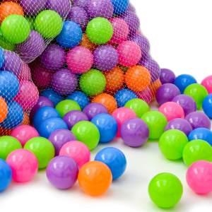 600 Bällebadbälle 6 cm Bunte Bälle für Bällebad Spielbälle Babybälle Pastell