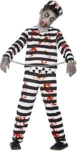 Halloween! Smiffys Zombiekostüm Sträfling, mit Hose, Oberteil, Mütze und Handschellen