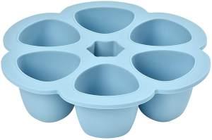 Béaba - Babynahrung Portionsbehälter aus Silikon, 6x150ml, blau