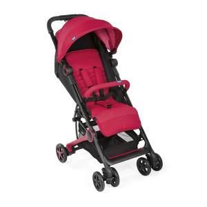 Chicco MIINIMO3 Buggy - Special Edition kompakter Reisebuggy, ultraleicht, ab Geburt, mit Transportrucksack, rot