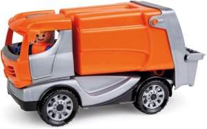 Lena 01623 Truckies Müllwagen, stabiles Einsatz Fahrzeug ca. 22 cm, kleines Müllauto Spielfahrzeug für Kinder ab 2 Jahre, Robustes Spielzeug Müllabfuhrauto für Sandkasten, Strand und Kinderzimmer