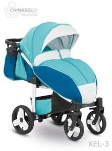 Camarelo Elf - Sportwagen Buggy - Gestell weiss Farbe XEL-3 blau-türkis/Gestell weiss