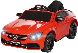 Actionbikes 'Mercedes AMG C63 Lizenziert' Kinder-Elektroauto, ab 3 Jahren, max. belastbar bis 30 kg, ca. 3-6 km/h, rot