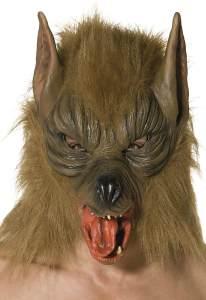 Halloween! Smiffys Maske Wolf, Braun, Über Kopf, Latex