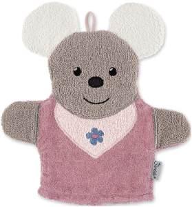 Sterntaler Spiel-Waschhandschuh Maus Mabel, Größe: 25 x 24 cm, Rosa
