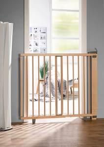 Geuther Treppenschutzgitter, für Türbreiten 86 - 133 cm, zum Bohren, Holz, Natur, TÜV geprüft