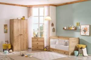 Cilek MOCHA BABY 1 Babyzimmer Komplettset Kinderzimmer Zimmer Kinder Baby Natur