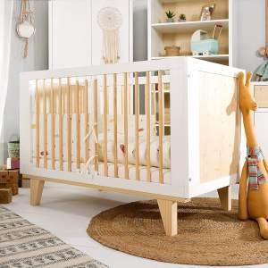 Kids Collective 'Lydia' Babybett 120x60cm, höhenverstellbar & herausnehmbare Sprossen